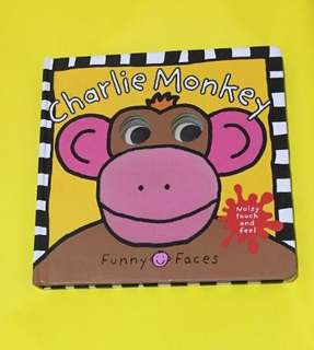Board Book: Funny Faces Charlie Monkey