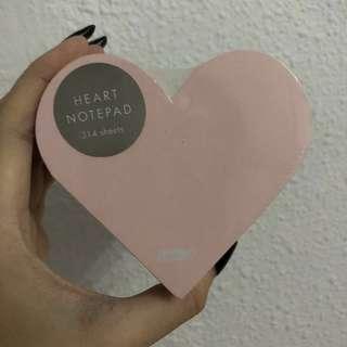 Kikki.k heart shaped notepad in packaging