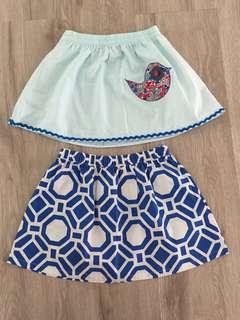 Blue Skirt Set