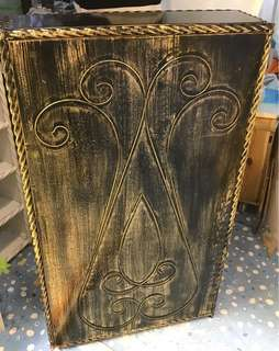古典歐陸式鋼材銅雕書桌