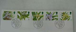 GB UK England Orchids Stamps & Special Postmark #1