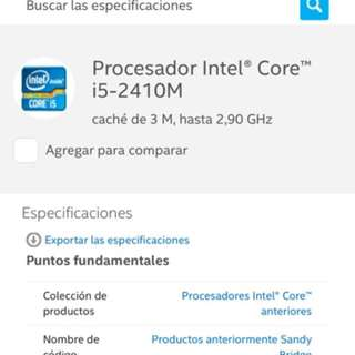Intel core i5 laptop processor
