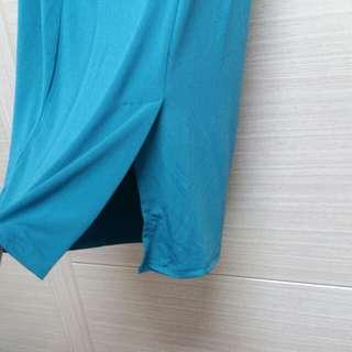 🚚 韓 微開衩窄裙