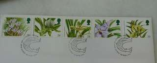 GB UK England Orchids Stamps & Special Postmark #2