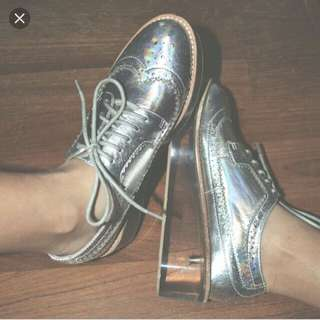 Jeffrey Campbell Hologram Laced Shoes