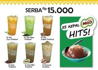 Gerobak minuman Thailand (paket thai tea & Milo kepal)