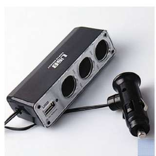 3 way car socket charger no switch w USB port 2.1A Easy Fix