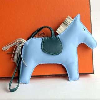 全新 Hermes Rodeo Gm Blue (new) 吊飾物 大size 尺寸 馬仔