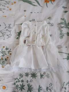 Lace dress with pink flower size 4