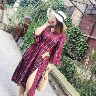 <Plus Size PO> Bohemian Style Dress