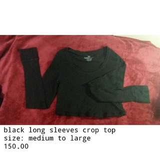 Long sleeves crop top