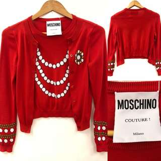 Moschino Couture cardigan style Sweater size F34