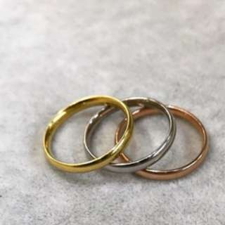 Tri-color stainless steel rings