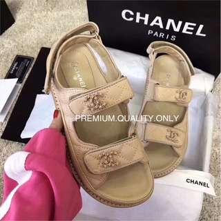 Chanel Sheepskin CC Sandal