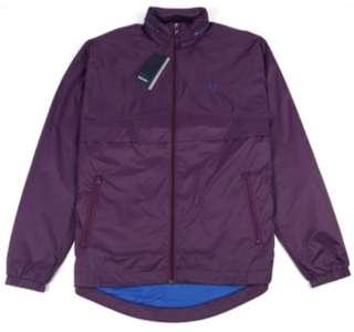 100% New 全新 男裝 英國購入 Fred Perry 紫色有帽薄 輕便 風褸 大碼 size L windbreaker jacket purple men's wear