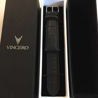 Vincero's Croc Leather Strap (Black 22mm)
