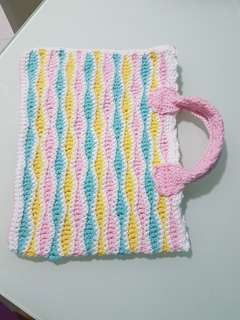 Handmade crochet A4 size bag
