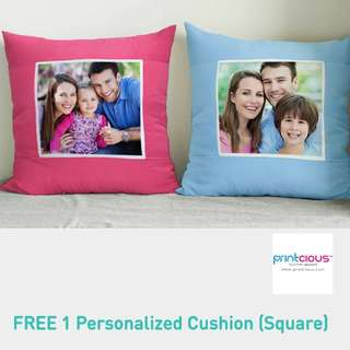 Free One Personalised Cushion Voucher worth RM39.9