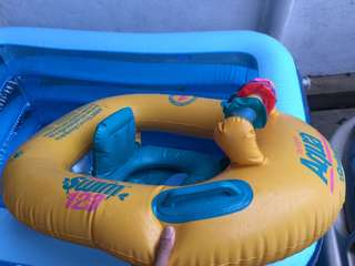 Kids swimming balloon boat