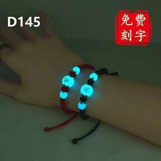 Luminous crystal bracelet