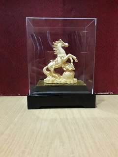 "Gold Plated ""Horse"" In Arcyclic Box"