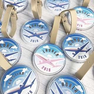 🚚 CUSTOM BAG TAG - acrylic tag airplane aeroplane