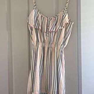 Miss Shop Striped Above Knee Dress