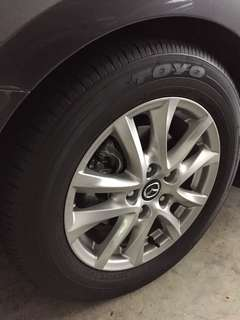 "Original 16"" Mazda 3 wheels with Toyo Tires (10k mileage)"