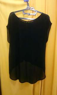 Black top mix chiffon