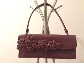 Bottega Veneta snake skin handbag 90% new