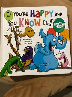Colourful Illustrated Story Book - If you're happy and you know it