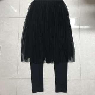 GU紗裙連legging