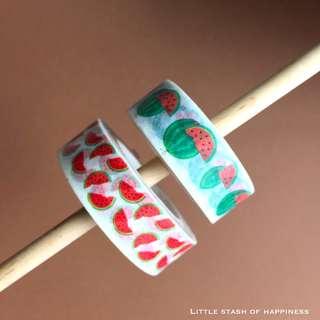 FREE NORMAL MAIL - Watermelon Kawaii Washi Tapes  #008 #009