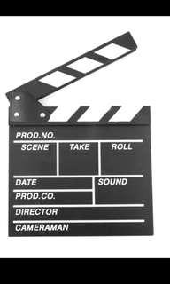 🚚 Movie clapperboard (restocks)