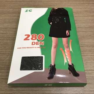 280丹尼 專業型彈性褲襪 黑色褲襪 黑色絲襪 280Den 中重壓 彈性機能 MIT 台灣製造 微透膚 預防靜脈曲張 預防水腫 預防壓力 減輕腳壓