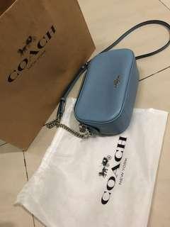 Coach Brand New Sky Blue Sling Bag