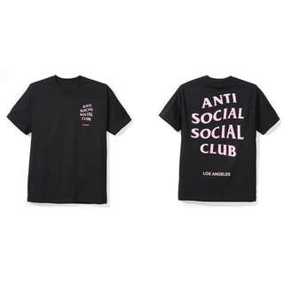 Authentic  Anti social social club tshirt