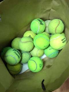 Used Tennis Ball 17nos Mixed , Mainly yes For Training purposes.