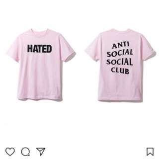Authentic Anti social social club t shirt
