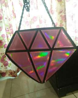 Diamond holographic bag