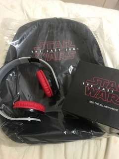 Star wars limited edition bagpack and wireless headphone