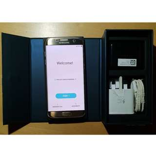 Top Condition Samsung S7 Edge 32GB Gold Platinum with box