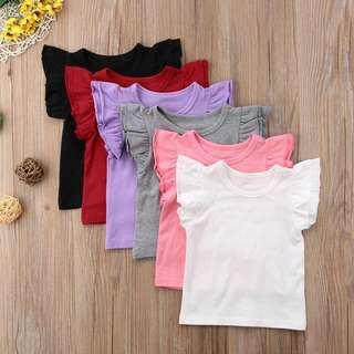 Basic Flutter Sleeve T Shirt