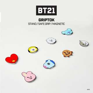 🇲🇾 [GROUP ORDER] BT21 SMART GRIPTOK Smart Ring Holder for Cellphone MYR65