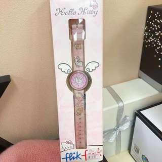 卡通手錶 Flik Flak Hello Kitty watch (Pink)