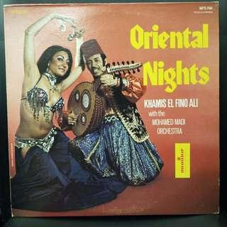 Rare Arabic Vinyl - Khamis El Fino Ali With The Mohamed Madi Orchestra – Oriental Nights