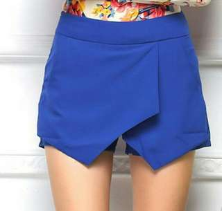 Korean Stylish Chic Overlap Skorts Shorts