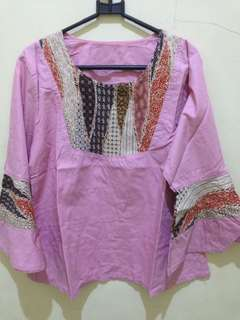 Setelan batik pink