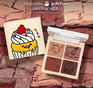 [INSTOCK] HOLIKA HOLIKA GUDETAMA Limited Edition Lazy & Joy Cupcake Eyeshadow Quad