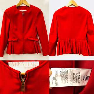 Valentino red with ribbons jacket size 38